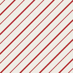 Peppermint Stripe in Christmas Red