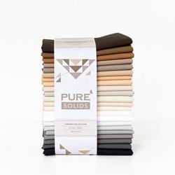 Pure Solids Half Yard Bundle in Hibernating