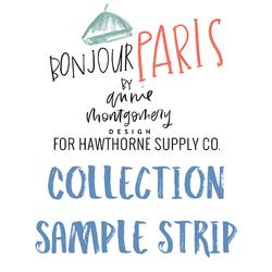 Bonjour Paris Sample Strip