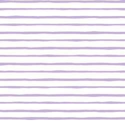 Artisan Stripe in Lilac on White