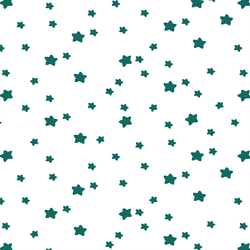 Star Light in Emerald on White