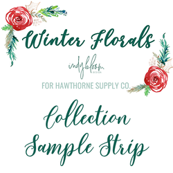Winter Florals Sample Strip