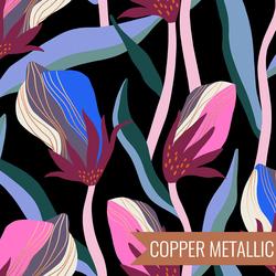 Bloom in Metallic Black