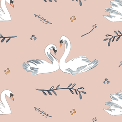 Royal Swans in Pink
