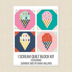 I Scream Quilt Block Kit