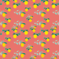 Citrus Grove in Living Coral