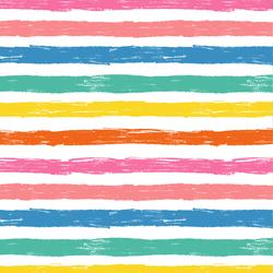 Happy Stripe in Rainbow