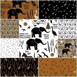 Paper Art Safari Fat Quarter Bundle