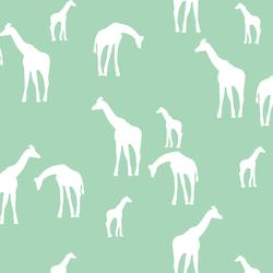Giraffe Silhouette in Seaglass
