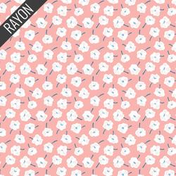 Flower Toss Rayon in Pink Multi