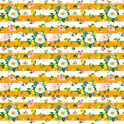 Small Lemon Blossoms in Orange Stripes