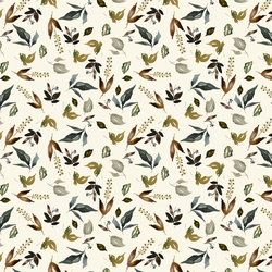 Little Woodland Foliage in Ivory