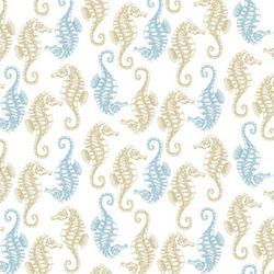 Seahorses in White