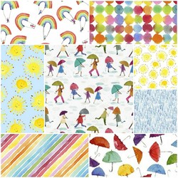 Rain or Shine Fat Quarter Bundle