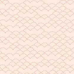 Sashiko Stitches in Peach