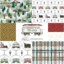 Christmas Trains Fat Quarter Bundle