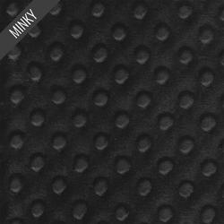 Minky Dimple Dot in Black