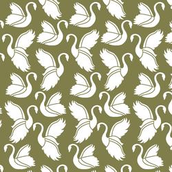 Swan Silhouette in Jungle