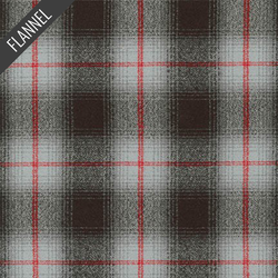 Mammoth Windowpane Plaid Flannel in Grey