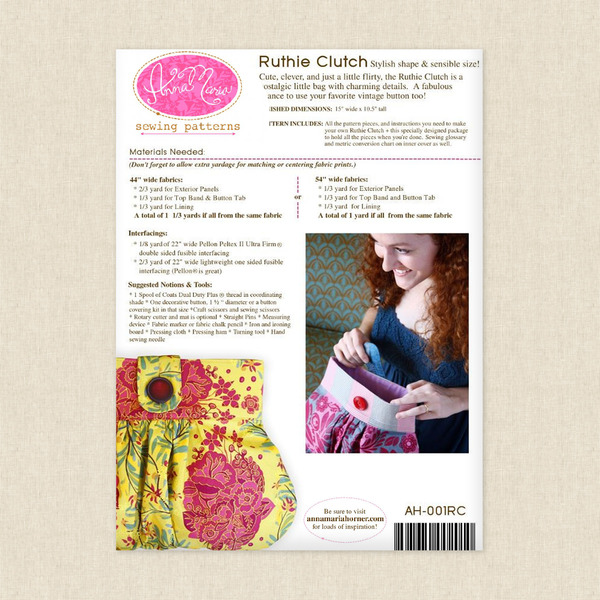 Ruthie Clutch Sewing Pattern By Anna Maria Horner At Hawthorne Supply Co