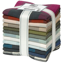 Mammoth Organic Flannel Fat Quarter Bundle in Summer 2021 New Colors