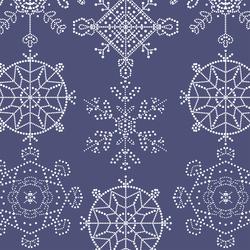 Snowflakes in Indigo