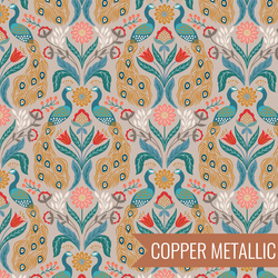 Peacock in Linen Metallic