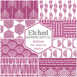 Etched Fat Quarter Bundle in Azalea