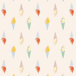 Ice Cream Parlor in Summer Sunshine