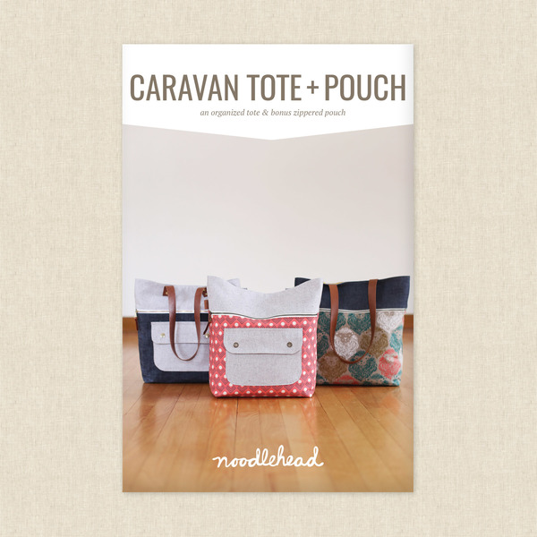 Caravan Tote and Pouch Sewing Pattern by Noodlehead at Hawthorne ...