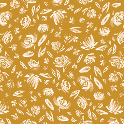 Spring Flowers in Gold