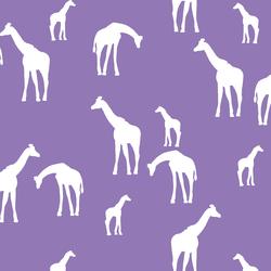 Giraffe Silhouette in Amethyst