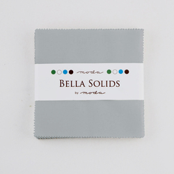 Bella Solids Charm Pack in Steel