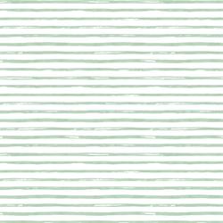 Small Watercolor Stripes in Spearmint