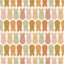 Easter Bunnies in Muted Rainbow