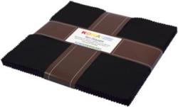 """Kona Solid 10"""" Square Pack in Black"""