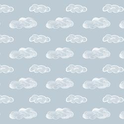 Clouds in Airy Blue