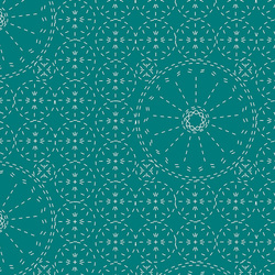 Sashiko Florette in Teal