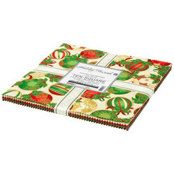 """Holiday Flourish 15 10"""" Square Pack in Holiday Colorstory"""