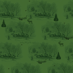 Sleigh Toile in Green