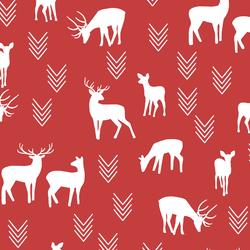 Deer Silhouette in Geranium