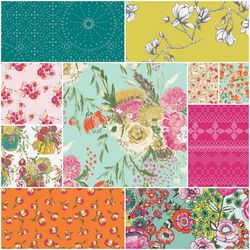 Wild Bloom Fat Quarter Bundle in Come Shine