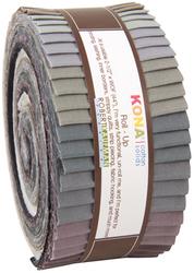 "Kona Solid 2.5"" Strip Roll in Gray Area"