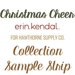 Christmas Cheer Sample Strip