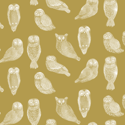 Snowy Owls in Gold