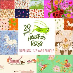 Heather Ross 20th Anniversary Half Yard Bundle