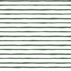 Artisan Stripe in Kale on White