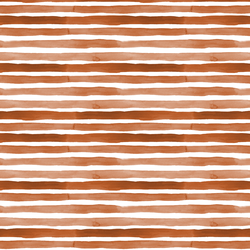 Watercolor Stripes in Rust