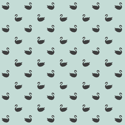 Small Swan Silhouettes in Onyx on Mint Green
