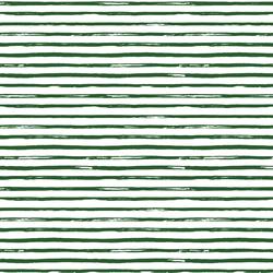 Small Watercolor Stripes in Evergreen